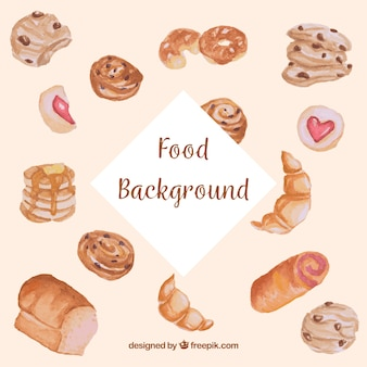 Food background with pastry