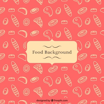 Food background with pattern