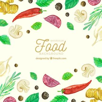 Пища фон с овощами