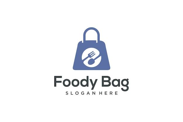 Дизайн логотипа пищевой сумки