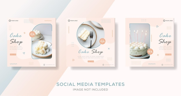 Food banner for cake shop template post