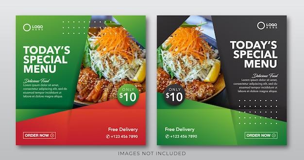 Food banner for social media post template