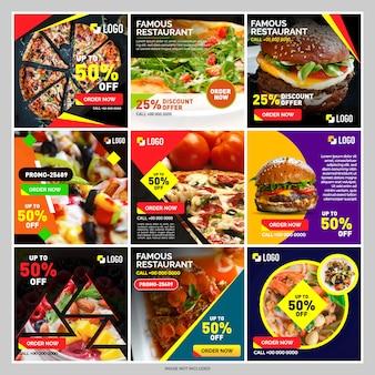 Food banner for social media post