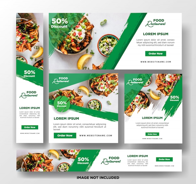 Food banner template.