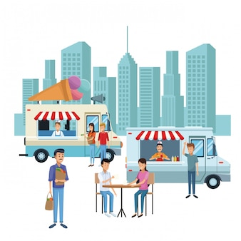 Food booth and shops