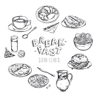 Food breakfast menu flyer