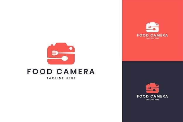 Food camera negative space logo design