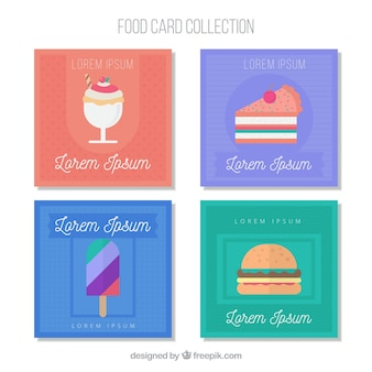 Food cards collection