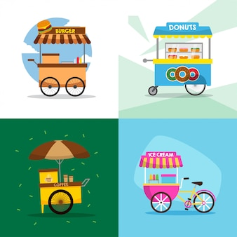 Food cart illustration