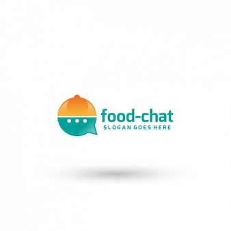 Food chat logo template
