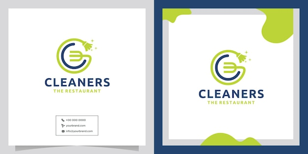 Food cleaning concept logo design