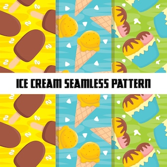 Food colorful seamless pattern