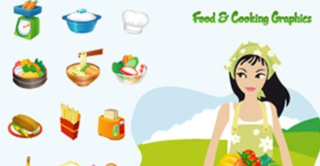 Food & cooking vector graphics