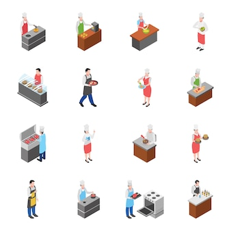 Food court and food corner icons pack