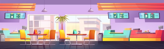 Фудкорт с кафе и ресторанами столовая