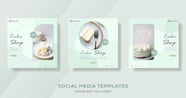 Food culinary banner for cake shop template post premium