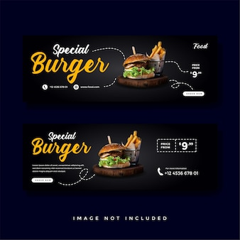 Food and culinary banner promotion collection