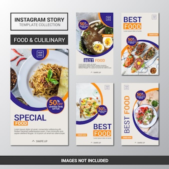 Food culinary instagram stories promotion template