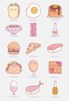 Food cute characters