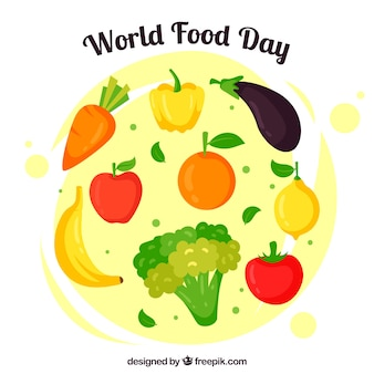 Food day background with vegetable