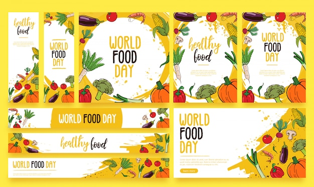 Food day banner template