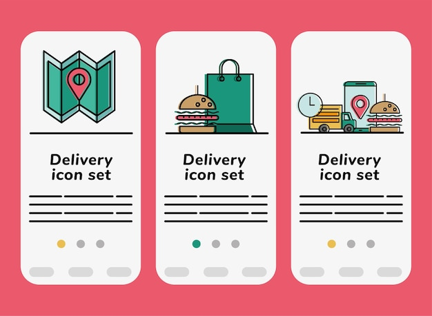 Food delivery banners