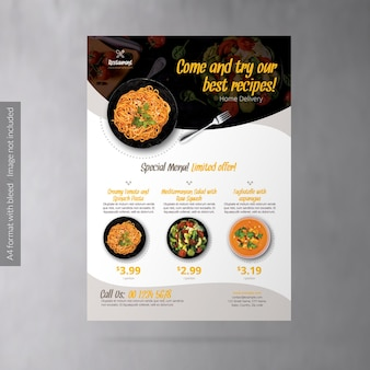 Food delivery business promotion flyer