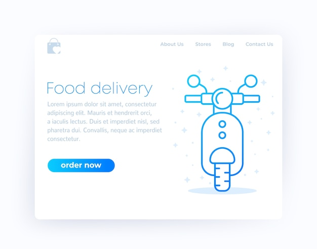 Food delivery landing page ,