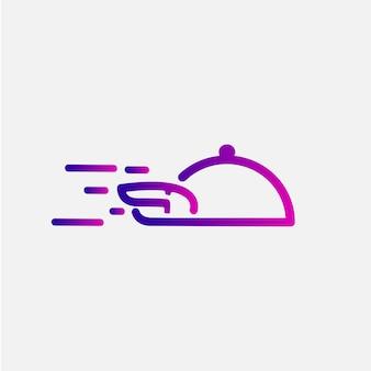 Food delivery logo monoline