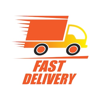 Food delivery logo with truck design