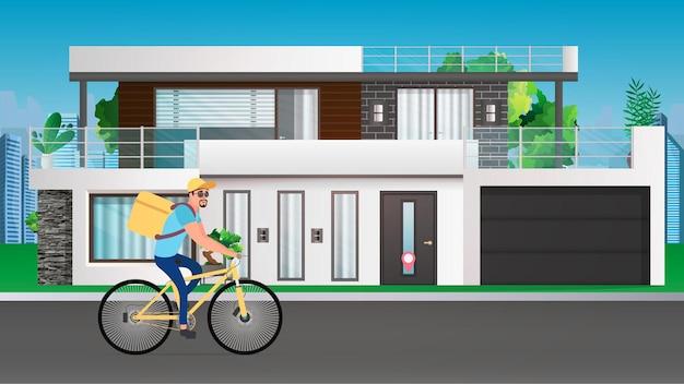 Доставка еды на велосипеде