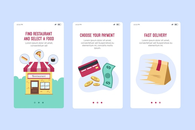 Food delivery onboard screen