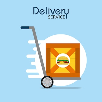 Food delivery service concept vector illustration graphic