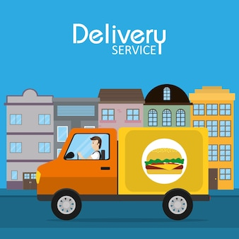 Food delivery service concept