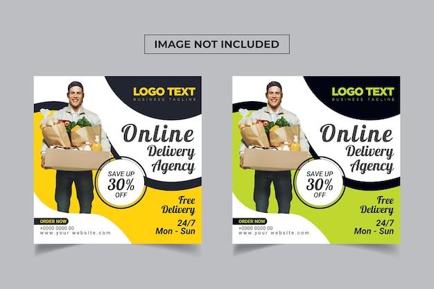 Food delivery social media designs