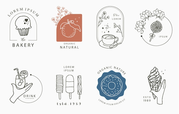 Food design collection with ice cream