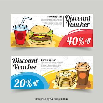 Food discount vouchers design