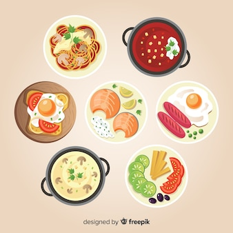 Food dish collection