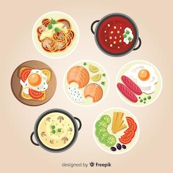 Коллекция пищевых блюд