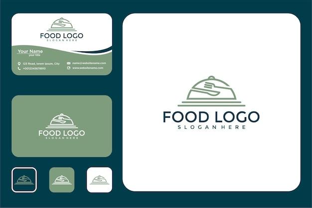 食器ラインアートロゴデザインと名刺