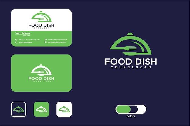 Дизайн логотипа блюдо и визитная карточка