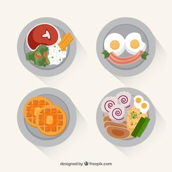 평면도와 음식 요리 모음