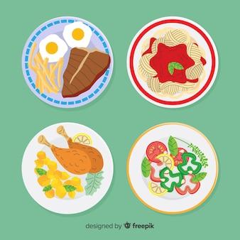 음식 요리 세트