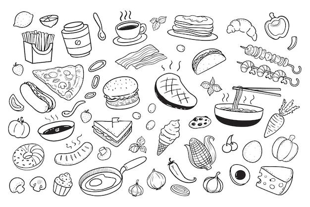 食べ物の落書き