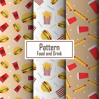 Food and drik seamless pattern