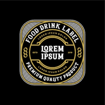 Food and drink logo design for product and restaurant