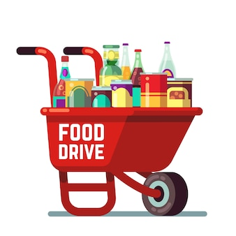 Food drive bank thanksgiving and christmas holiday donation