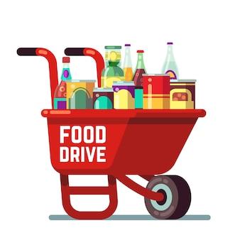 Food drive bank благодарения и рождественских праздников
