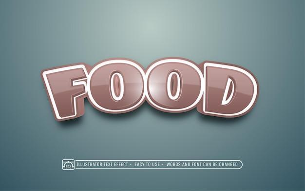 음식 편집 가능한 텍스트 효과 글꼴 스타일