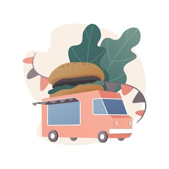 음식 축제 추상적 인 개념 그림